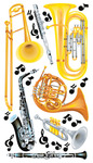 Wind Instruments - Sticko Classic Stickers