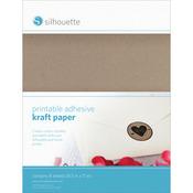 "Kraft - Silhouette Printable Sticker Paper 8.5""X11"" 10/Pkg"