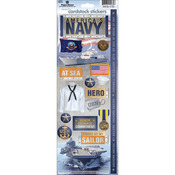 Navy - Cardstock Stickers