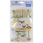 Birds - Paper House 3D Stickers