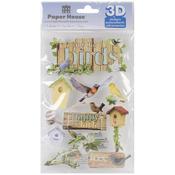 Birds - Paper House 3D Stickers