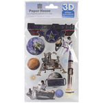 Space Cadet - Paper House 3D Stickers