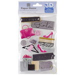 Shopping Girls - Paper House 3D Stickers