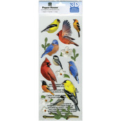Backyard Birds - Paper House 3D Stickers