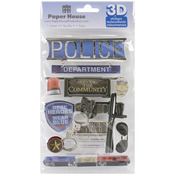 Police - Paper House 3D Stickers