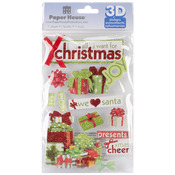 All I Want For Christmas - Paper House 3D Stickers