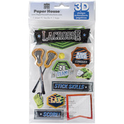 Lacrosse - Paper House 3D Stickers