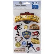 Wrestling - Paper House 3D Stickers