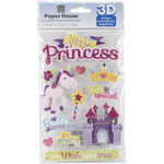 Little Princess - Paper House 3D Stickers