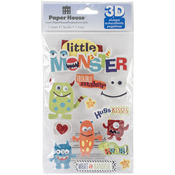 Little Monster - Paper House 3D Stickers