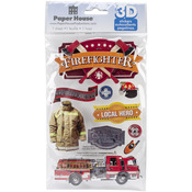 Firefighter - Paper House 3D Stickers