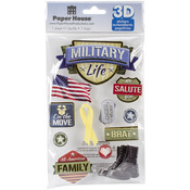 Military Life - Paper House 3D Stickers