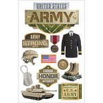Army - Paper House 3D Stickers