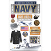 Navy - Paper House 3D Stickers
