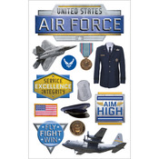 Air Force - Paper House 3D Stickers