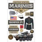 Marines - Paper House 3D Stickers