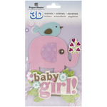 Baby Girl Scene - Paper House 3D Stickers
