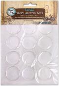 "Round - Vintage Collection Epoxy Glitter Dots 1"" 12/Pkg"