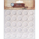 "Round - Vintage Collection Epoxy Dots 1"" 50/Pkg"