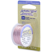 Rose Gold - Permanent Colored Copper Wire 26 Gauge 15yd