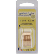 Natural Non-Tarnish Brass - Permanently Colored Copper Wire 28 Gauge 15yd