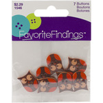 It's A Hoot Brown 7/Pkg - Favorite Findings Buttons