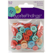 Twist Assorted 130/Pkg - Favorite Findings Buttons