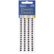 Brown - Crystal Stickers Elements 5mm Round 68/Pkg