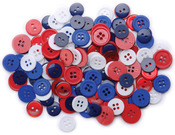Patriotic 130/Pkg - Favorite Findings Buttons