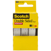 ".5""X250"" 3/Pkg - Scotch Permanent Double-Sided Tape"