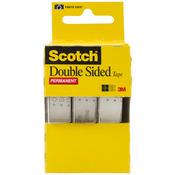 ".5""X250"" 3/Pkg - Scotch Permanent Double-Sided Tape"