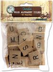 """Vintage Collection Wood Alphabet Tiles .75"""" 40/Pkg"""