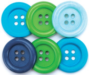 Ocean - Favorite Findings Big Buttons 6/Pkg