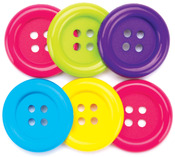 Fun - Favorite Findings Big Buttons 6/Pkg