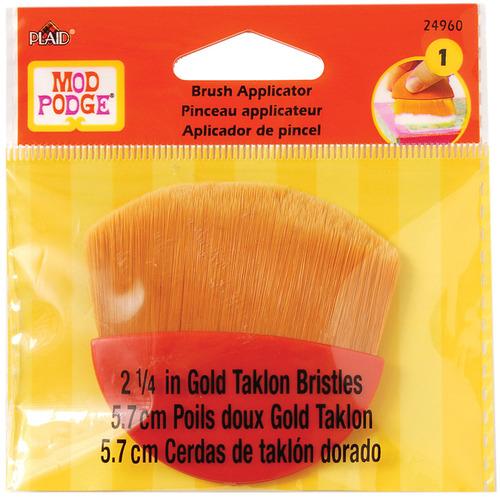 "Gold Taklon - Mod Podge Brush Applicator 2.25"""