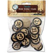 "Black - Vintage Collection Wood Bingo Tiles 1"" 30/Pkg"