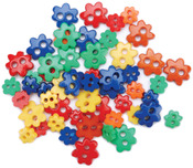 Favorite Findings Mini Shaped Buttons 49/Pkg - Primary Flowers