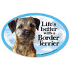 Prismatix Cat & Dog Magnets - Border Terrier Prismatix-Cat & Dog Magnets. A fun way to dress up your car, locker, refrigerator, filing cabinets and more! This package contains one 4x6 inch magnet. Comes in a wide variety of sayings. Each sold separately. Made in USA.