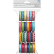 ".375"" Wide X 4' Per Spool - Mayberry Value Pack Premium Ribbon 24/Spools"