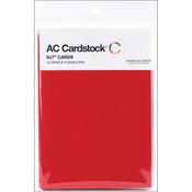 "Rouge - American Crafts A7 Cards & Envelopes (5.25""X7.25"") 12/Pkg"