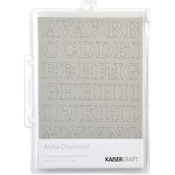 "Chipboard Alphabet #1 8.25""X5.75"" Sheets 3/Pkg-.875"" Uppercase, Lowercase & Numb"