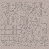 "1"" Lowercase Letters - Chipboard Alphabet 12""X12"""