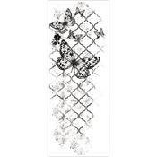 """Flutter - Texture Clear Stamps 2""""X5"""""""