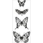 "Butterflies - Texture Clear Stamps 2""X5"""