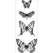 "Butterflies - Texture Clear Stamps 2""X5"""
