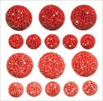 Rouge - Sparklets Self-Adhesive Rhinestone Clusters 16/Pkg
