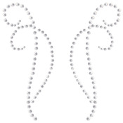 Self - Adhesive Rhinestone Flourishes  2/Pkg - Decorative - Silver