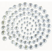 Silver - Self-Adhesive Rhinestones 100/Pkg