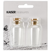 "1""X2"" - Treasures Corked Bottles 2/Pkg"