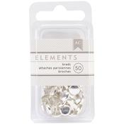 "Silver - Elements Brads .1875"" 50/Pkg"